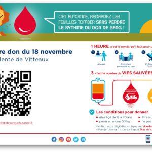 Don du sang à Vitteaux
