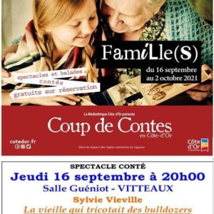 Coup de Contes – Sylvie Vieville – Salle Guéniot à Vitteaux