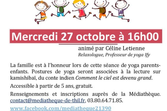 Contes en yoga à la Médiathèque de la butte de Thil